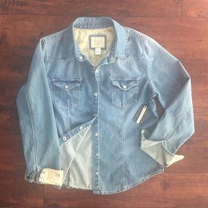 Forever 21 Denim Button Down Shirt